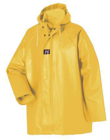 Rain Jacket with Hood, Yellow, M