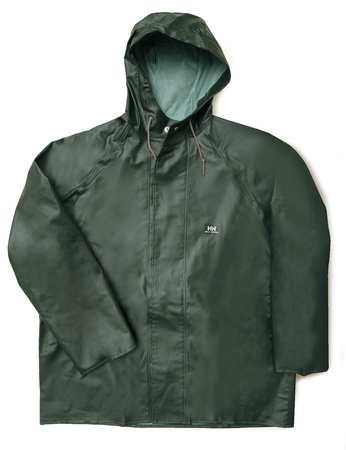 Rain Jacket with Hood, Green, M
