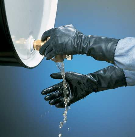 Chemical Resistant Glove, 13 mil, Sz 9, PR