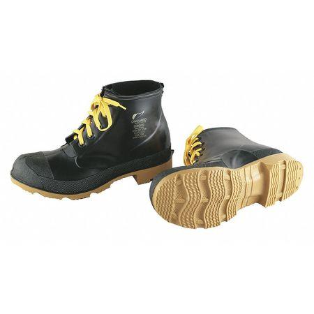 """Ankle Boots, Sz 10, 6"""" H, Black, Stl, PR"""