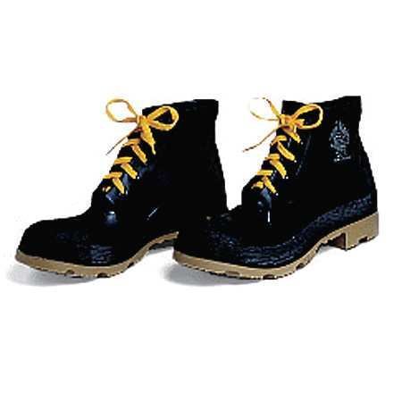 """Ankle Boots, Sz 8, 6"""" H, Black, Stl, PR"""