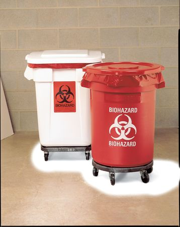 Biohazard Waste Container, 27-1/4 In. H