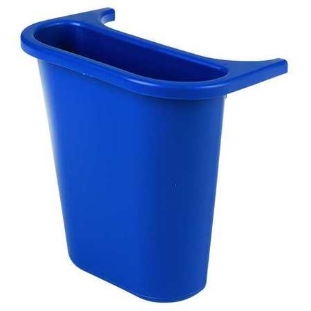 1.19 gal.  Rectangular  Blue  Trash Can