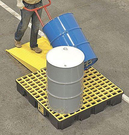 Drum Spill Cntnmnt Pallet, 4 Drum, 8k lb.