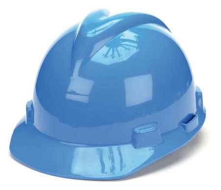 Hard Hat, FrtBrim, Slotted, PinLk, Blue