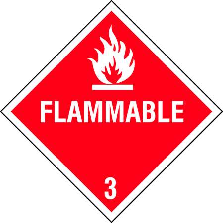 Vehicle Placard, Flam w Pictogram, PK10
