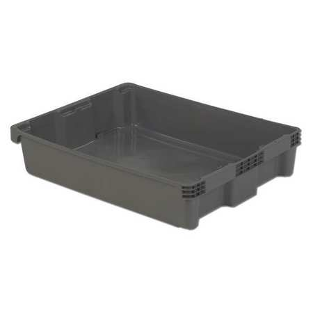 Stack and Nest Bin, 29-5/8 In L, Gray