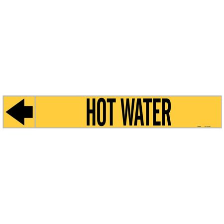 Pipe Marker, Hot Water, 1 In.H