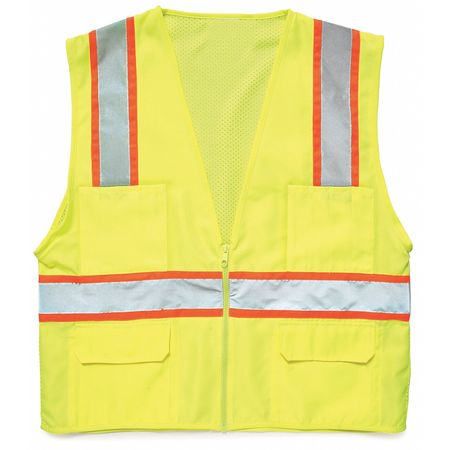 Medium Class 2 High Visibility Vest,  Lime