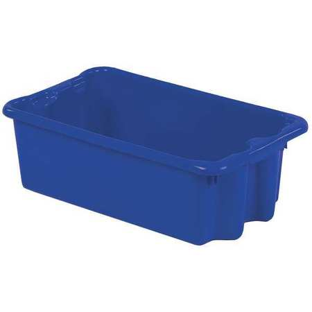 Stack and Nest Bin, 24 In L, Blue