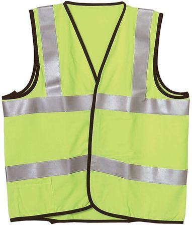 Flame Resist Vest, Class 2, L, Ylw