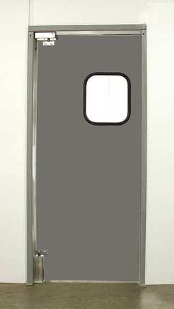 Commercial Impact Door, 7 x 4 ft, Charcoal