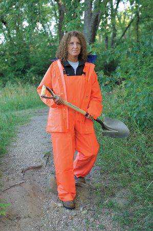 2 Piece Rainsuit, Hi-Vis Orange, L