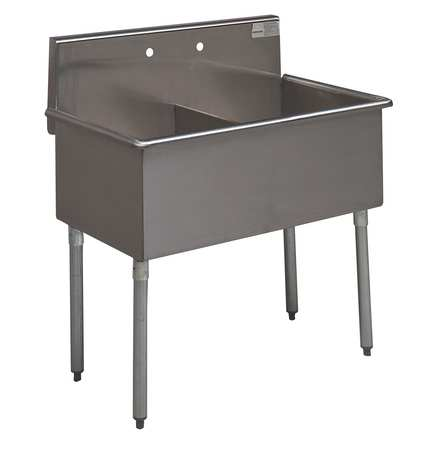 Advance Tabco Floor Mount Utility Sink Stainless Steel Bowl Size 21 X 36 4 2 Zoro