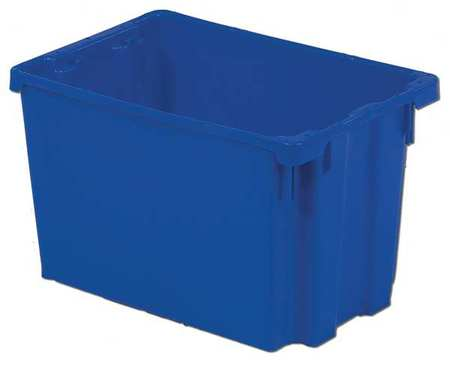 Stack and Nest Bin, 20-1/8 In L, Blue