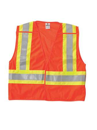 3XL Class 2 Breakaway High Visibility Vest,  Orange