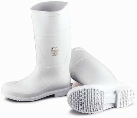 Steel Toe White PVC Chemical-Resistant Kneeboots
