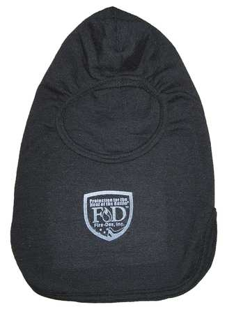 Bibbed Fire Hood, Univ, 15 In L, Black, HRC2