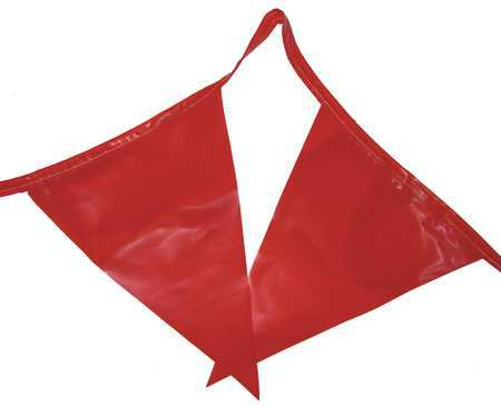 Pennants, Polyethylene, Red, 100 ft.