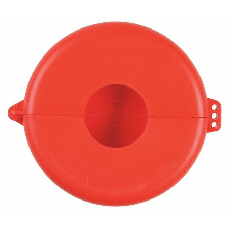 Valve Lockout, Fits Sz 6-1/2 to 10, Red