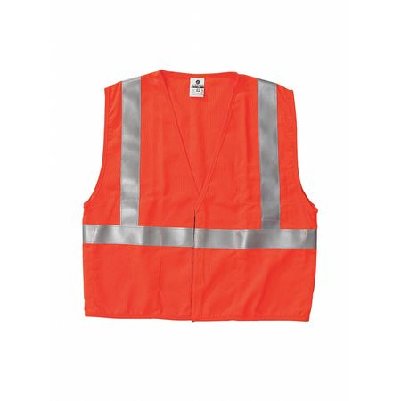 Flame Resist Vest, Class 2, XL, Orange