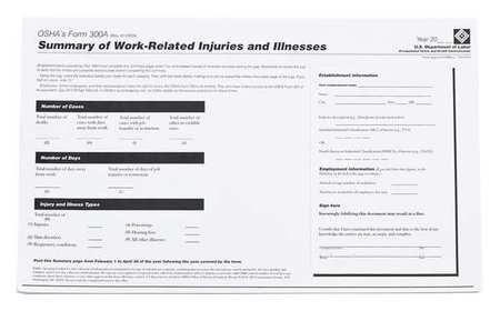 Forms, OSHA 300A Log