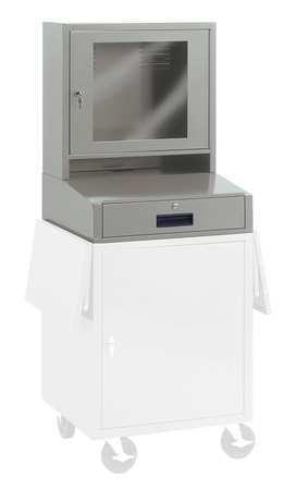 Edsal Computer Cabinet, 27 x 24 x 49-1/4In, Gray CSC6775G   Zoro.com