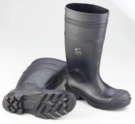 "Knee Boots, Sz 9, 16"" H, Black, Stl, PR"