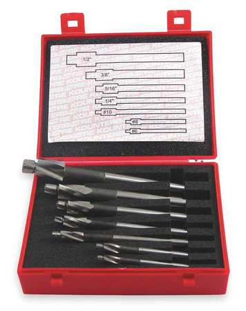 Counterbore Set, Close Fit, 7 PC, #6-1/2 In