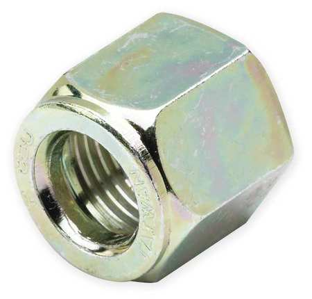 Nut, Zinc Pltd Steel, Comp, 3/8In