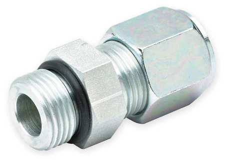 "1/4"" Compression x Male SAE-ORB SS Straight Connector"