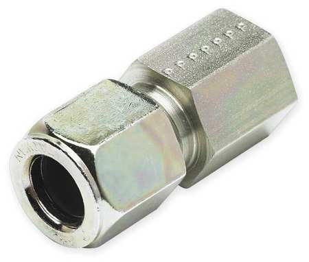 Connector, Zinc Pltd Steel, CompxF, 3/8In