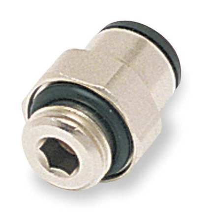 12mm Tube x BSPP Nickel Brass Male Connector 10PK