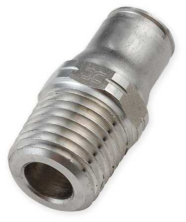 "3/8"" Tube x MNPT SS Male Connector PK 2"