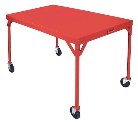 "Mobile Fixed Work Table, Steel, 54""W, 30""D"