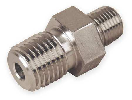 Hex Nipple, 1/2 x 1/4 In, Hex 7/8