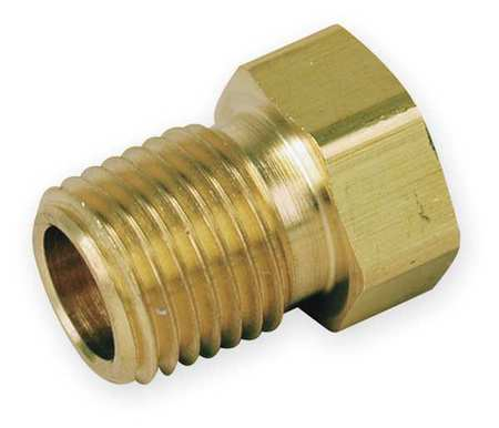 "1/2"" MNPT x 3/8"" FNPT Brass Reducing Bushing"