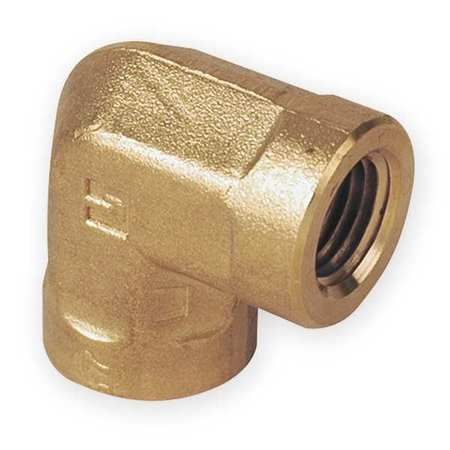 "3/8"" FNPT Brass 90 Degree Elbow"