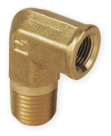 "3/8"" MNPT x FNPT Brass 90 Degree Street Elbow"