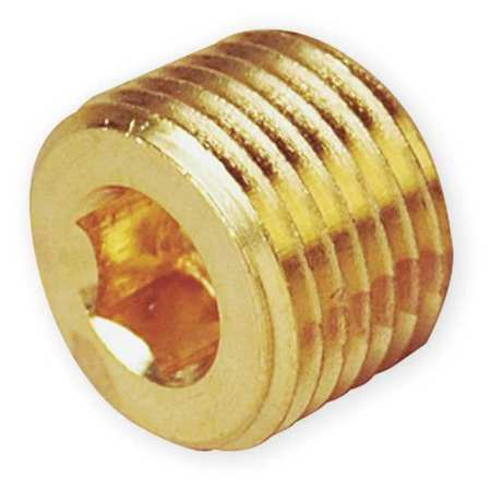"1/8"" MNPT Brass Hollow Hex Head Plug"