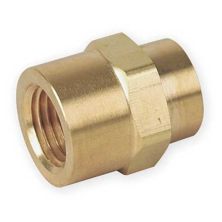"3/8"" x 1/4"" FNPT Brass Reducing Coupling"