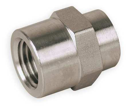 Hex Coupling, Carbon Steel, 1/4 In, FNPT