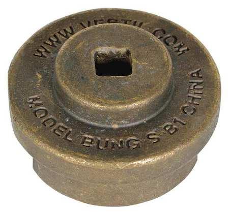 Drum Bung Socket, 3/8 In,  Bronze