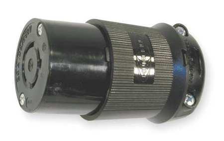 20A Locking Connector 3P 4W 125/250VAC L14-20R BK