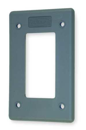 Rocker Wall Plate, 1 Gang, Gray