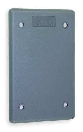 Blank Wall Plate, 1 Gang, Gray