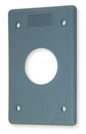 Single Receptacle Plate, 1 Gang, Gray