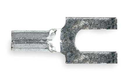 Fork Terminal, Block, #8 Stud, Bare, PK100