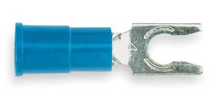 Fork Terminal, Lockng, #8 Stud, Blue, PK100