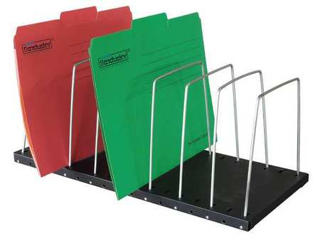 File Holder, 8 Compartments, 7-1/2 In. H